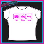 EAT SLEEP LOVE TROY HSM TSHIRT CHILDS LADIES ADULTS SIZES